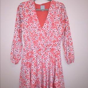 CeCe faux wrap dress size 8